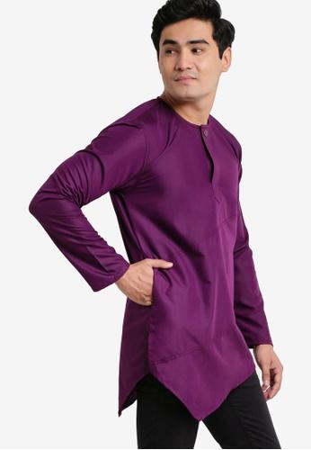 Amar Amran purple Kurta Al Fattah AM362AA35JYMMY_1