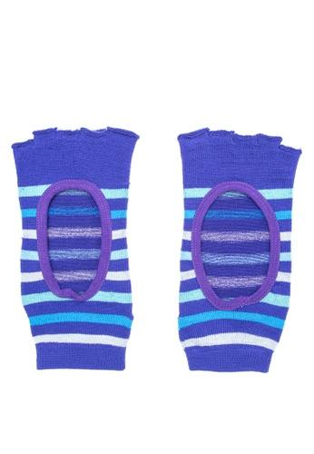 Goldtoe blue Powersox Ladies Half Toe Socks Stripes with Window GO028AA63AUUPH_1