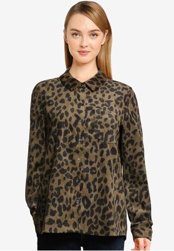 Vero Moda green Sally Long Sleeve Corduroy Shirt 6B523AA99A2D9DGS_1