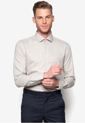 印花長袖襯衫,esprit手錶專櫃 服飾, 襯衫