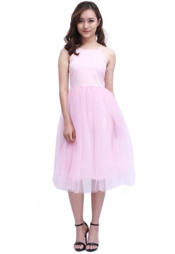 d465d1d698 Buy COVETZ Wedding Bella Tulle Midi Dress - Pink Online | ZALORA ...