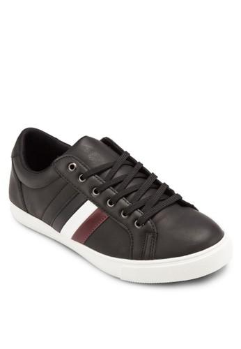 條紋邊飾仿皮運動鞋,esprit 尖沙咀 鞋, 鞋