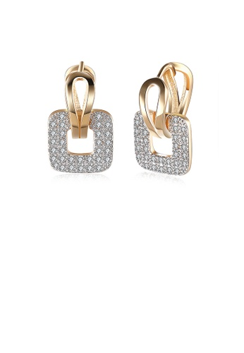 Glamorousky white Elegant Sparkling Square Cubic Zircon Earrings D95F4AC067418CGS_1