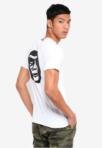 OBEY white Creeper Circle T-Shirt 98A81AAE1CEB92GS_1