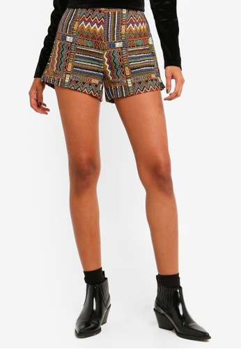 Brave Soul multi All Over Embroidered Shorts DBF3DAA933CEC1GS_1
