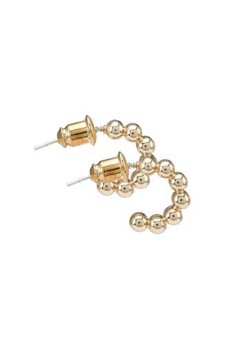 Red's Revenge gold 14K Gold Plated Total Stud Huggie Hoop Earrings FB137AC9CDE5B8GS_1
