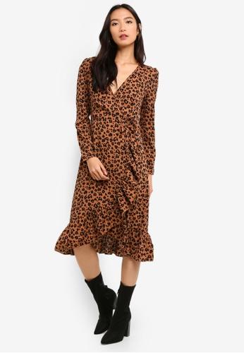 f67af458e5 Shop MISSGUIDED Petite Leopard Print Midi Dress Online on ZALORA Philippines