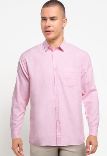 Tolliver X Salt n Pepper pink Men Basic Long Sleeve Shirts 40A22AAA071C55GS_1