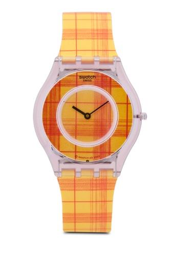 Swatch yellow Fire Madras 01 Watch 9B30CAC020768DGS_1