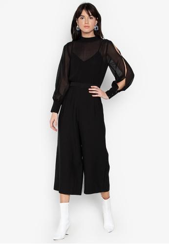 ea1d85e06e0 Shop WAREHOUSE Chiffon Culotte Jumpsuit Online on ZALORA Philippines