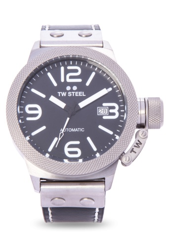 TW Steel black CS5 Canteen Strap Analog Watch TW310AC0KMBXPH_1