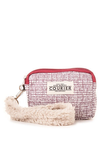 Courier red Wallet Pouch with Fur strap CO826AC53QPIPH_1