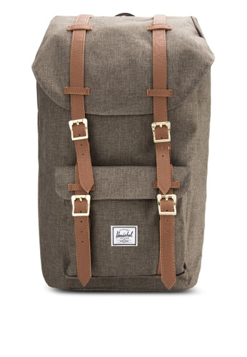 Herschel brown Little America Backpack HE114AC05SJAMY_1