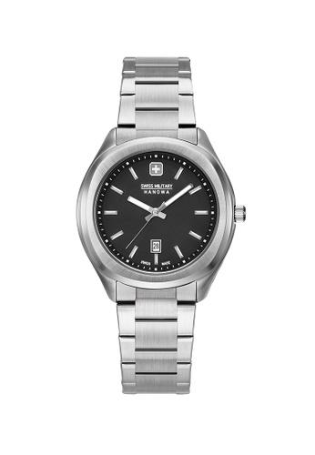 Swiss Military Hanowa black and silver Alpina Watch SM06-7339.04.007 D9996ACC7C36DFGS_1