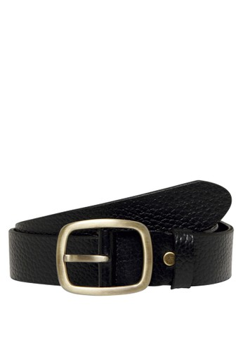 Only & Sons black Cody Vintage Leather Belt EE4B2AC4A28905GS_1