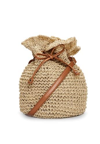 LC Waikiki beige Knit Pattern Straw Shoulder Bag 422E1KCFA7A51AGS_1