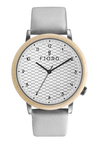 Fjord white Fjord Men's Genuine Leather Watch - FJ-3037-01 6C909ACA48B63EGS_1