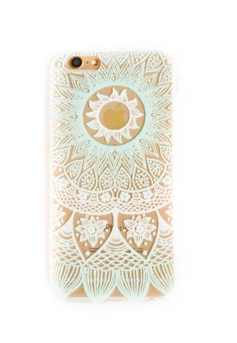Fancy Cellphone Cases multi Mandala Soft Transparent Case for iPhone 6/6s FA644AC09JPUPH_1