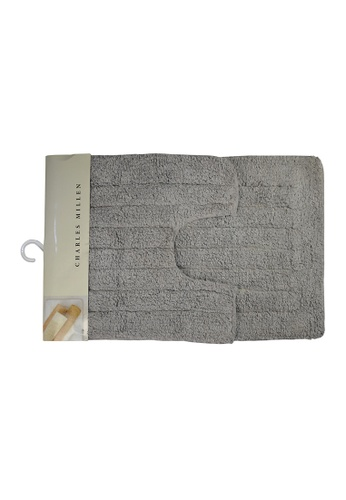 Charles Millen Charles Millen  CMST Oi-4186 Fuse 100% Cotton Tufted Bath Rug 40x40 and 40x60cm / 650g. 74046HLA4C80CCGS_1