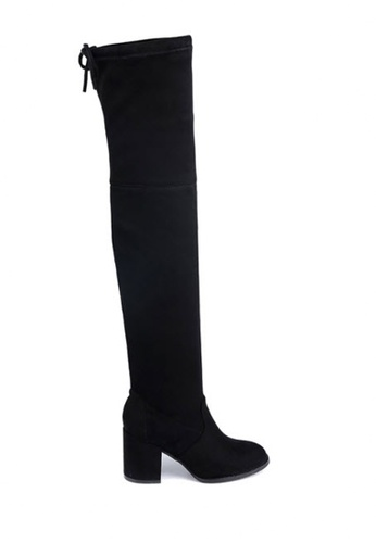 Twenty Eight Shoes black Skinny Over Knee Heel Long Boots 661-2 3FA81SH56F9F19GS_1