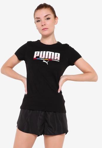PUMA black Multicoloured Women's Tee 8A229AA4A27182GS_1
