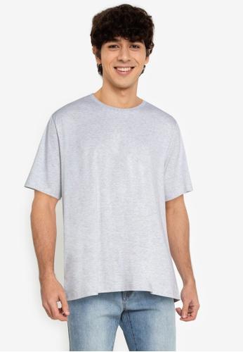 ZALORA BASICS grey Relaxed Fit T-Shirt 05D6CAAC0628A1GS_1