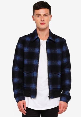 Jack & Jones 藍色 羊毛外套 78FB9AA5752762GS_1