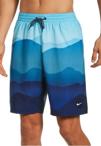 "Nike blue Nike Swim Men's Landscape Vital 9"" Volley Short FF750USEC26EB3GS_1"