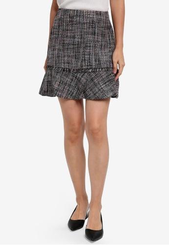 WAREHOUSE grey Molly Tweed Pelmet Skirt BB67CAA3C183C3GS_1
