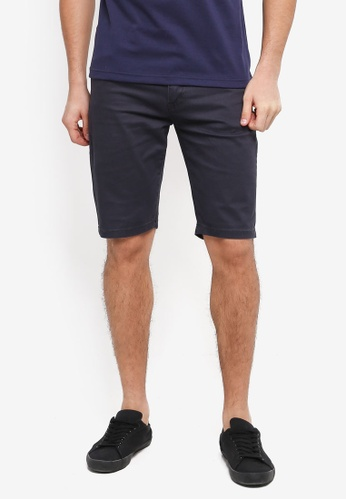Fidelio blue Casual Cotton Shorts EBD21AA6C9CA0DGS_1