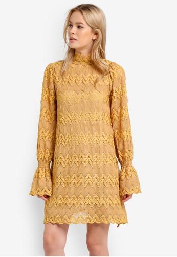 Free People yellow Simone Mini Dress FR659AA0RH6VMY_1