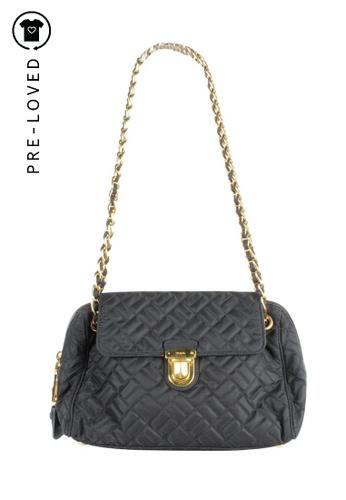 PRADA black Pre-Loved prada Quilted Shoulder Bag 28979AC9851253GS_1