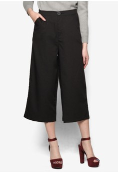Wide Leg Trousers With Side pockets