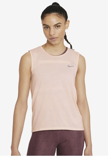 Nike pink Women's Dri-FIT Run Division Tank Top 2E826AA020A864GS_1
