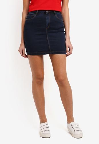 MISSGUIDED blue Denim Mini Skirt Vintage Indigo B8326AA2B2A125GS_1
