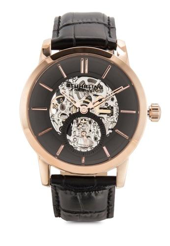 Stuhrling Original black Stuhrling Original Men's 924.04 Legacy Analog Display Mechanical Hand Wind Black Watch ST251AC63ILCMY_1