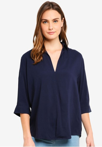 Cotton On blue Bex Popover Shirt 7FAC7AA38594B3GS_1