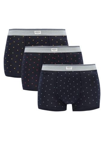 Springfield navy 3-Pack Polka-Dot Essentials Boxers 4B46FUS760E528GS_1