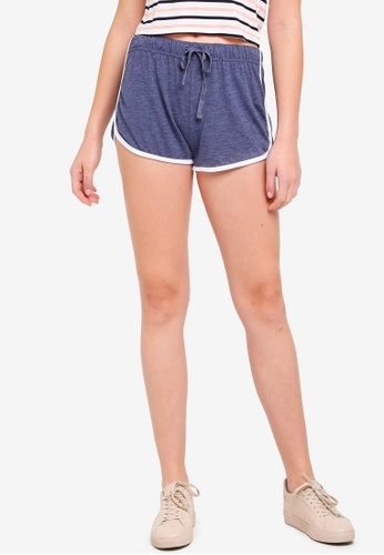 Cotton On blue and navy Retro Contrast Bind Shorts ABBB5AA77AB72AGS_1