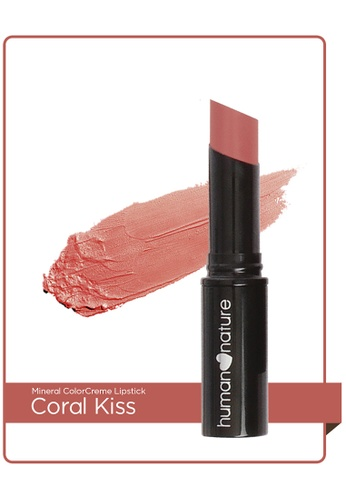 Human Nature brown 4.3G Mineral Colorcreme Lipstick Coral Kiss B48E0BE292EF27GS_1