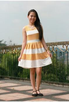 Loreen Yellow Striped Dress