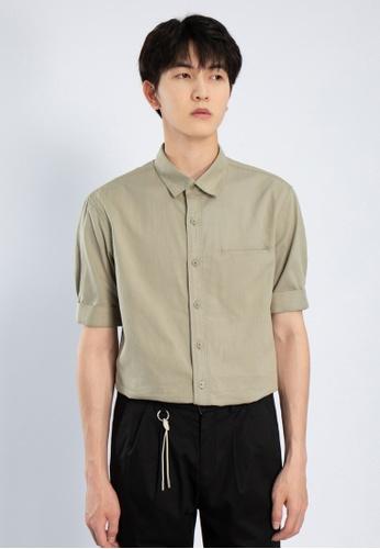 HAPPY FRIDAYS Simple Short Sleeve Casual Shirts AP2152 DB658AA35AD053GS_1