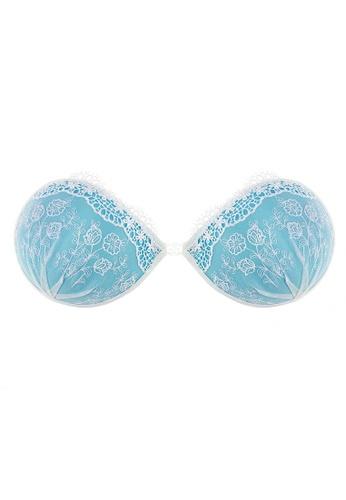 SMROCCO blue Heaven Seamless Push Up Invisible Bra Nubra B1014 (Blue) 7B719US500ED52GS_1