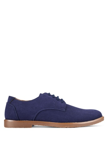 UniqTee blue Suede Lace Up Derby Shoes UN097SH0RFVJMY_1