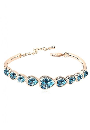 LOVENGIFTS blue LOVENGIFTS Forever Love Bangle Gold Plated (Blue) LI189AC86MTPMY_1