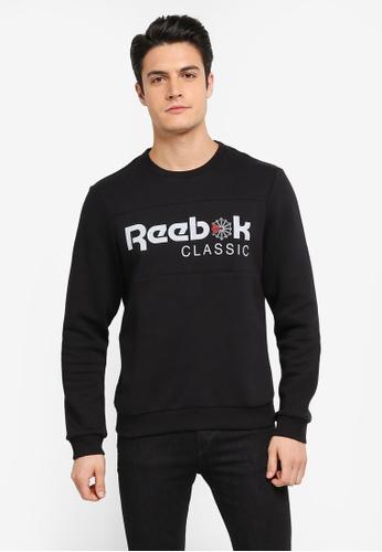 Reebok 黑色 Reebok Classics Iconic Crewneck Sweatshirt RE691AA0SX1ZMY_1