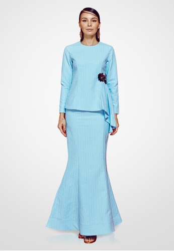 Farraly Aishah Kurung from FARRALY in Blue