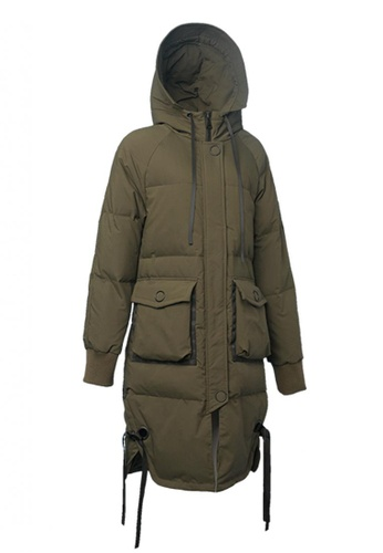 Universal Traveller green Oversize Full Length Down Jacket AAB22AAD2E2AD6GS_1