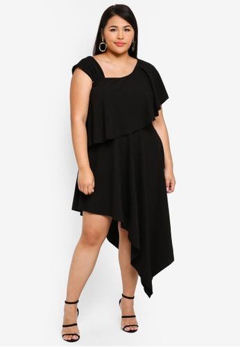 7716cd88d8 Buy Goddiva Plus Size One Shoulder Midi Dress Online | ZALORA Malaysia
