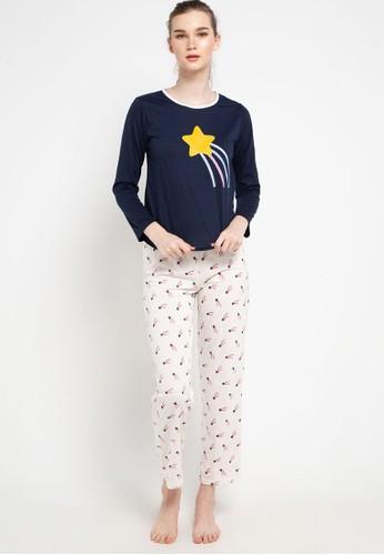 Puppy navy Pyjama Pijama Long Sleeve Long Pants Sleepwear D45A2AA6A25522GS_1
